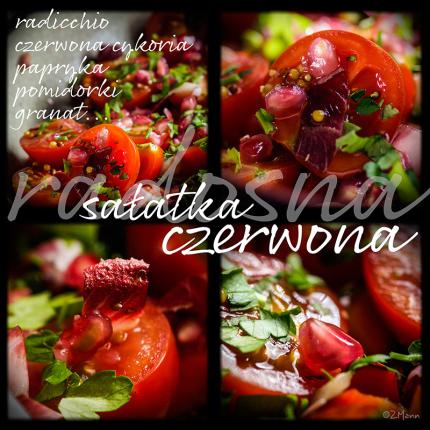 radosna czerwona sałatka