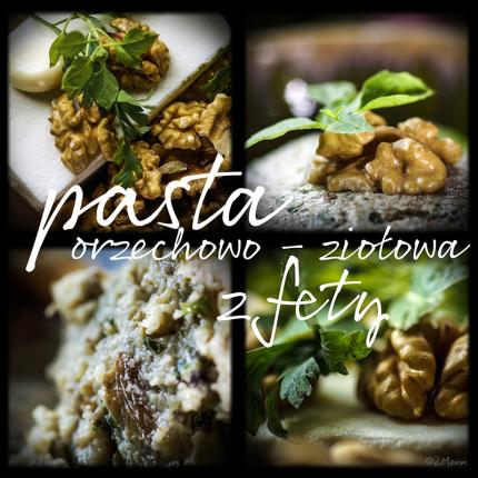pasta orzechowo-ziołowa z fety