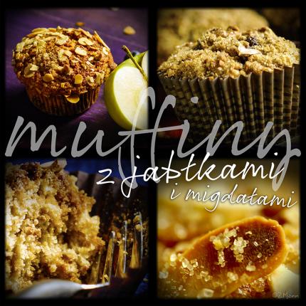 cynamonowe muffiny jabłkowe z migdałami