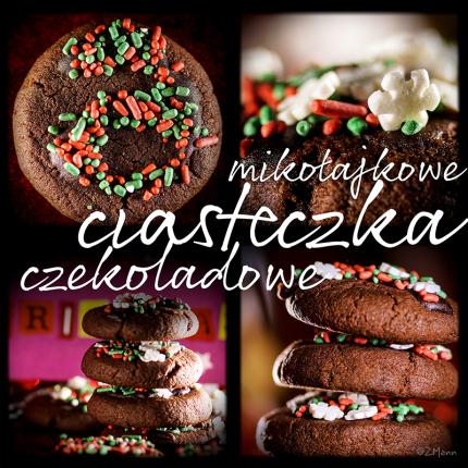(mikołajkowe) ciasteczka czekoladowe ………….. …………………………