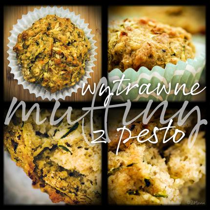 wytrawne muffiny z pesto