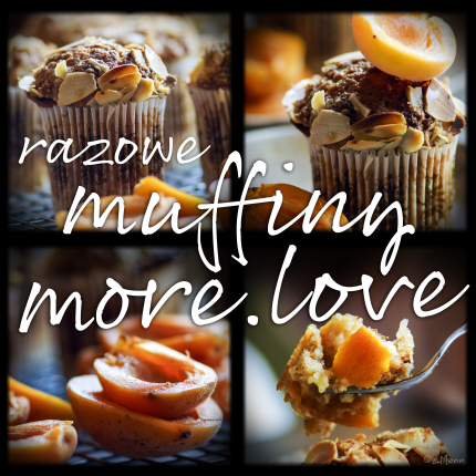 razowe muffiny morelowe