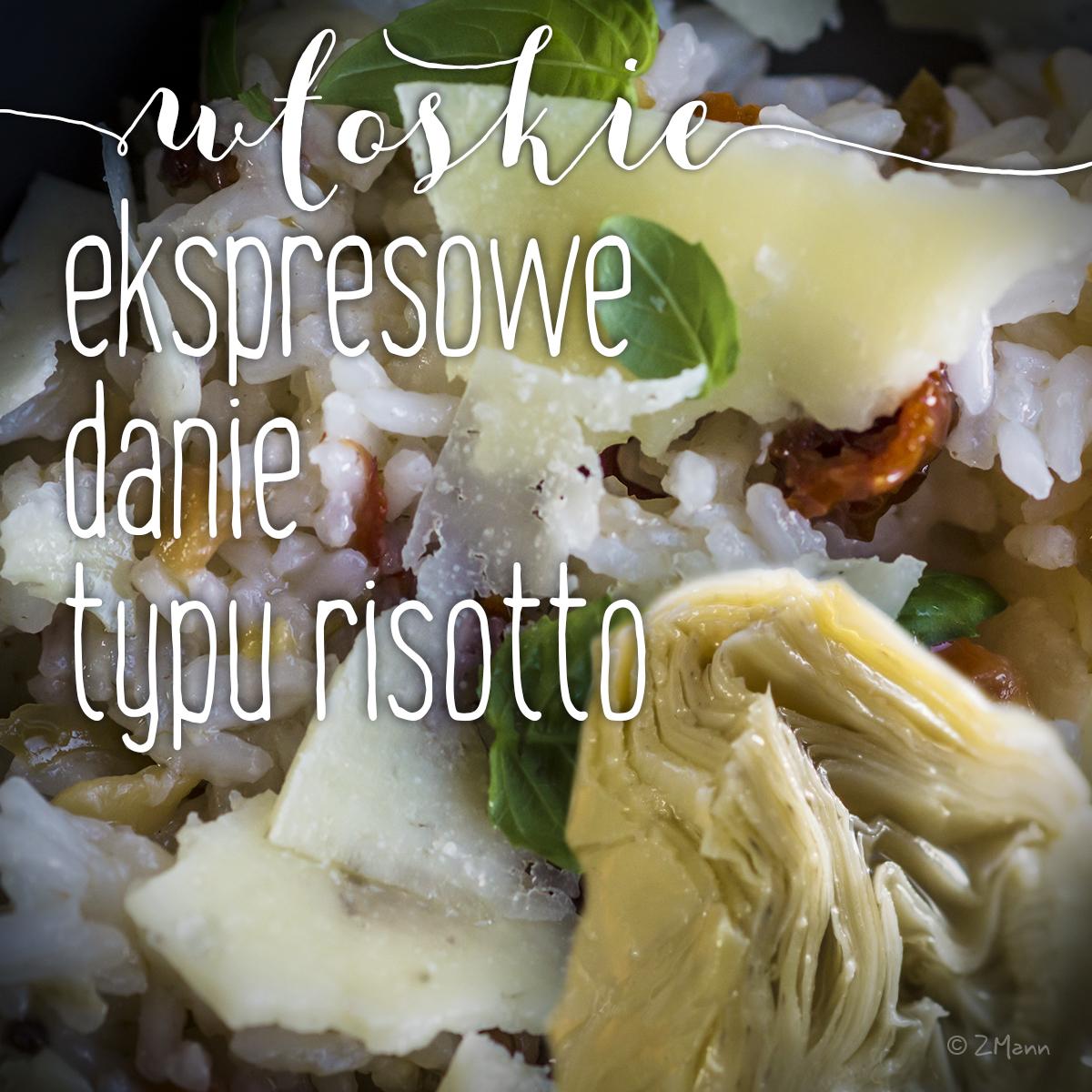 ekspresowe danie typu risotto z karczochami