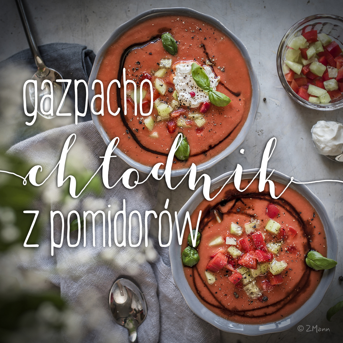gazpacho . chłodnik z pomidorów