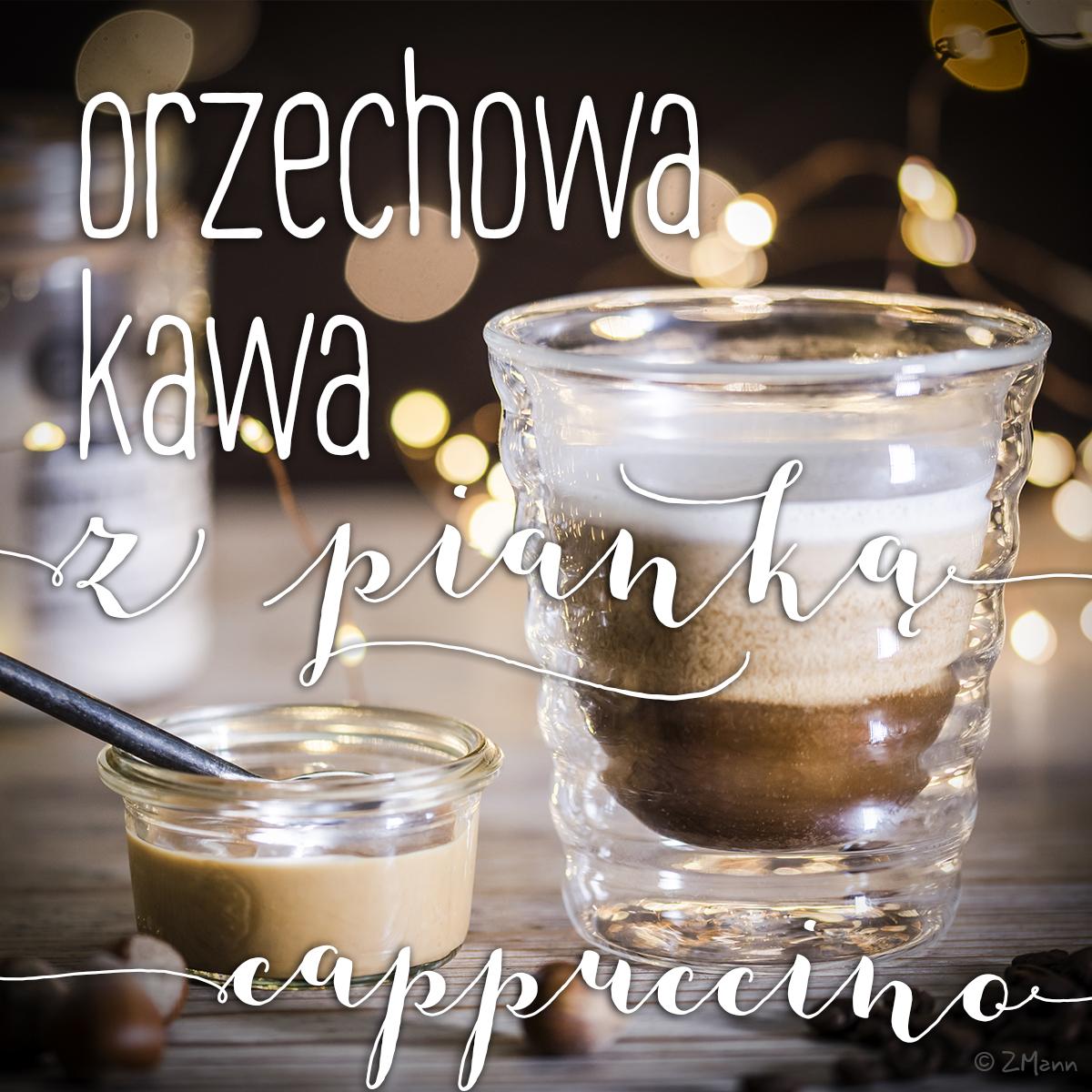 orzechowa kawa z pianką . bez cukrowych syropów, wegańska i bezmleczna