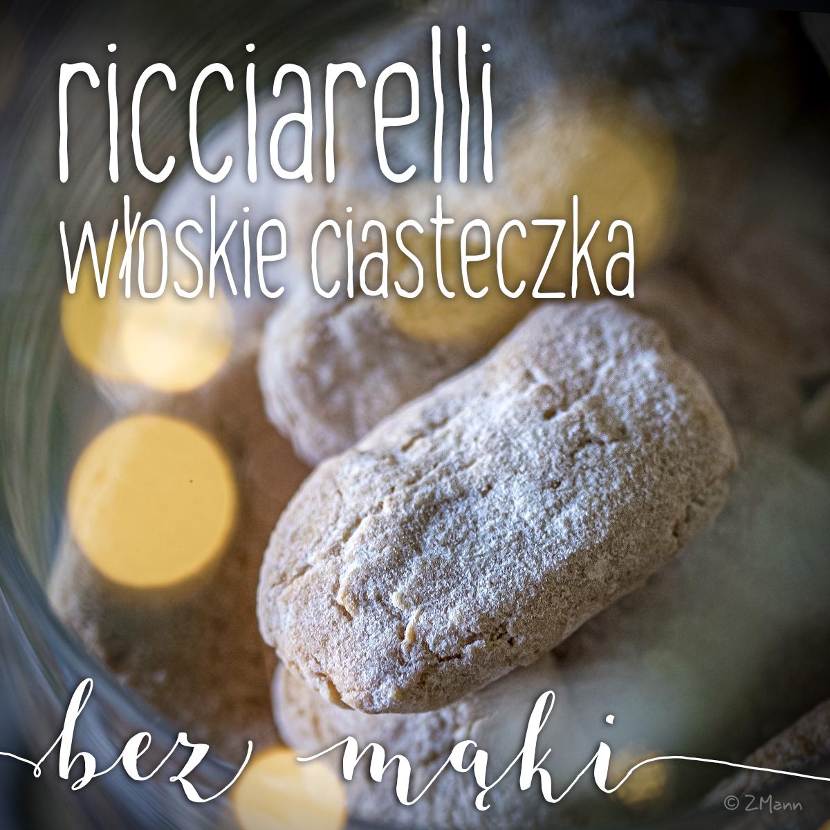 ricciarelli . włoskie ciasteczka migdałowe bez mąki