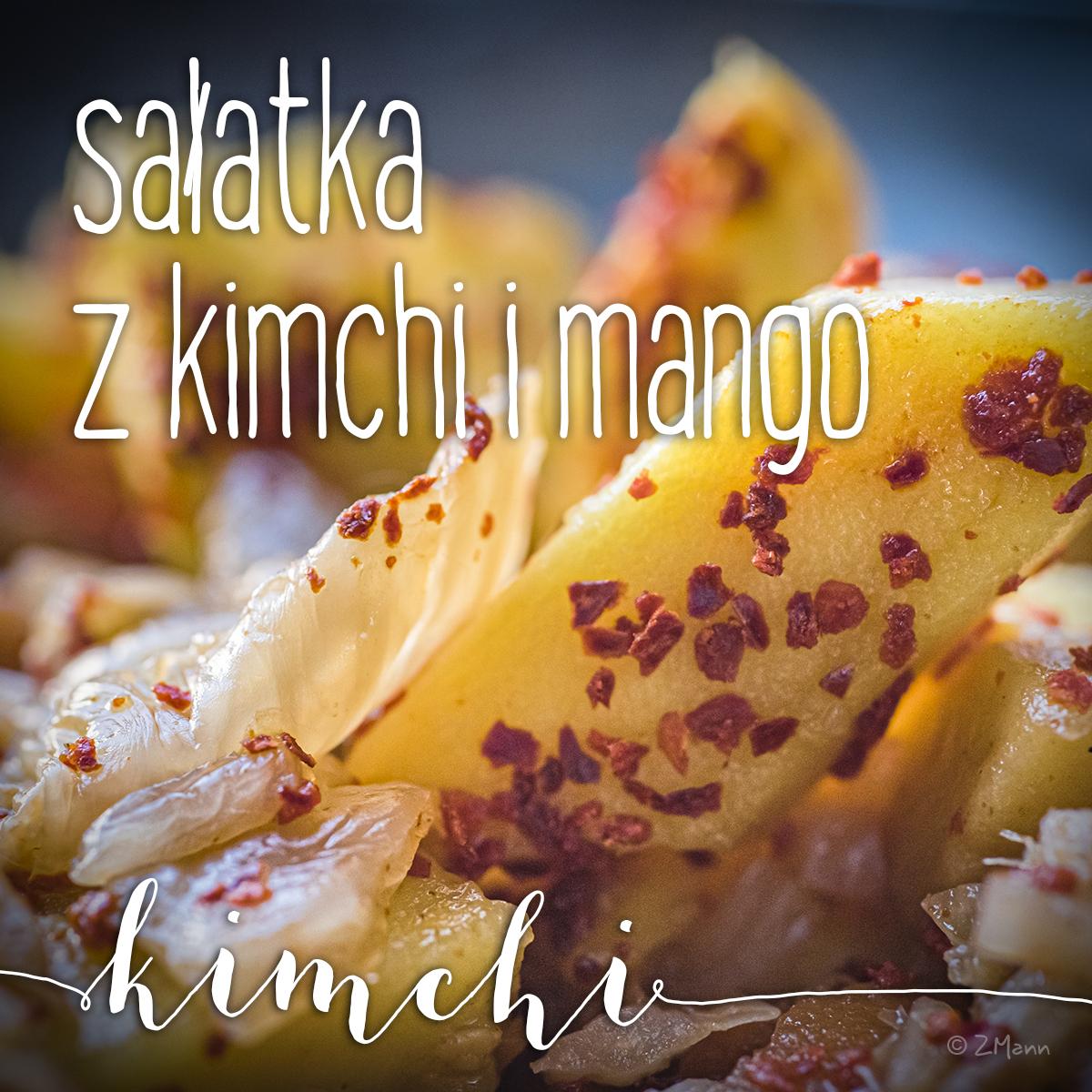 sałatka z kimchi i mango