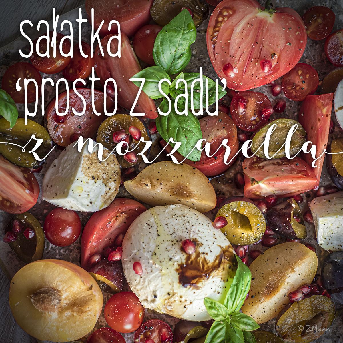 sałatka 'prosto z sadu' z mozzarellą