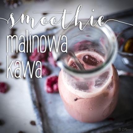 smoothie 'malinowa kawa' i domowe mleko z migdałów
