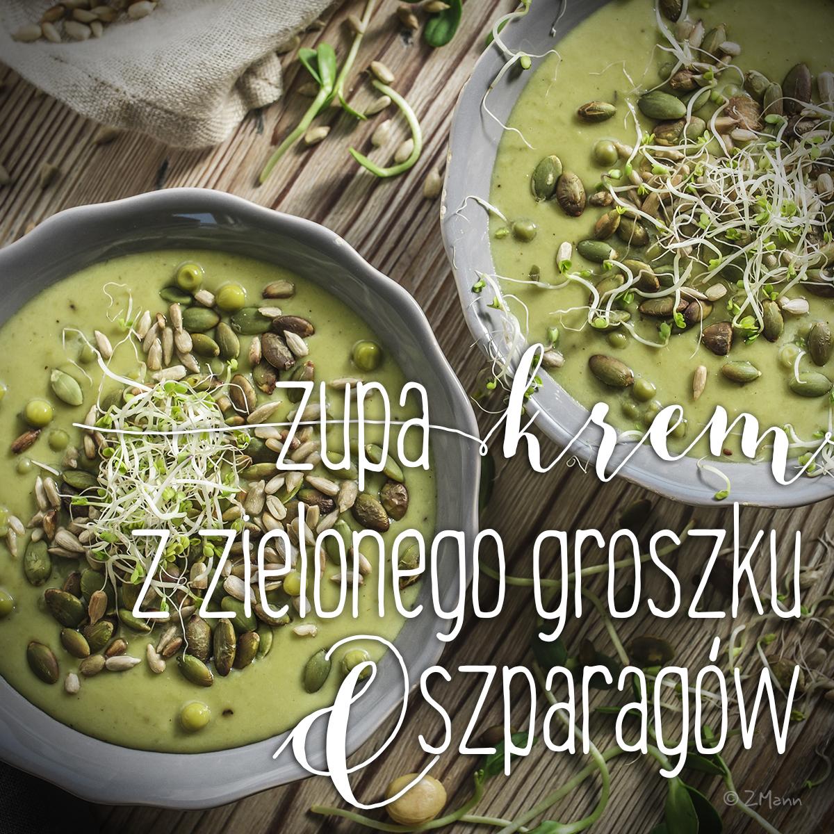 zupa-krem z zielonego groszku i szparagów