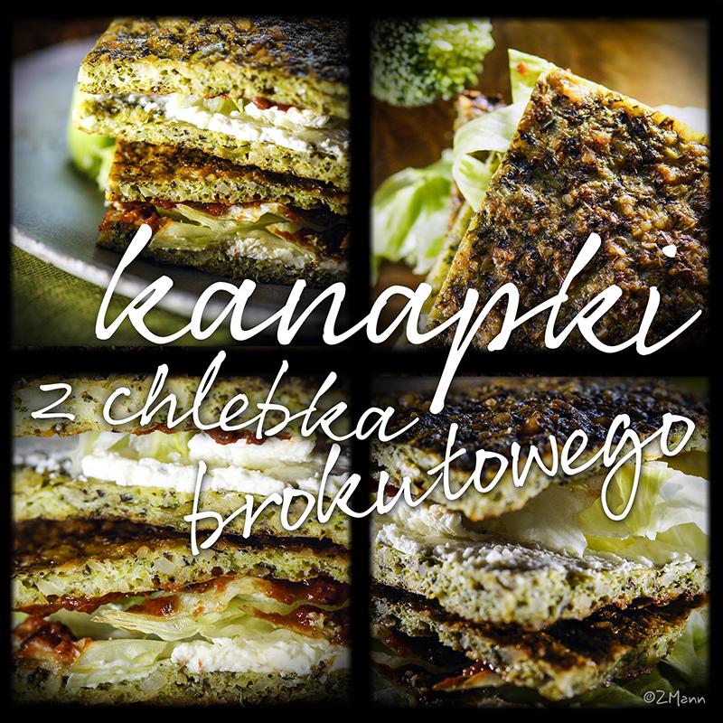 kanapki z chlebka brokułowego . najlepsze!