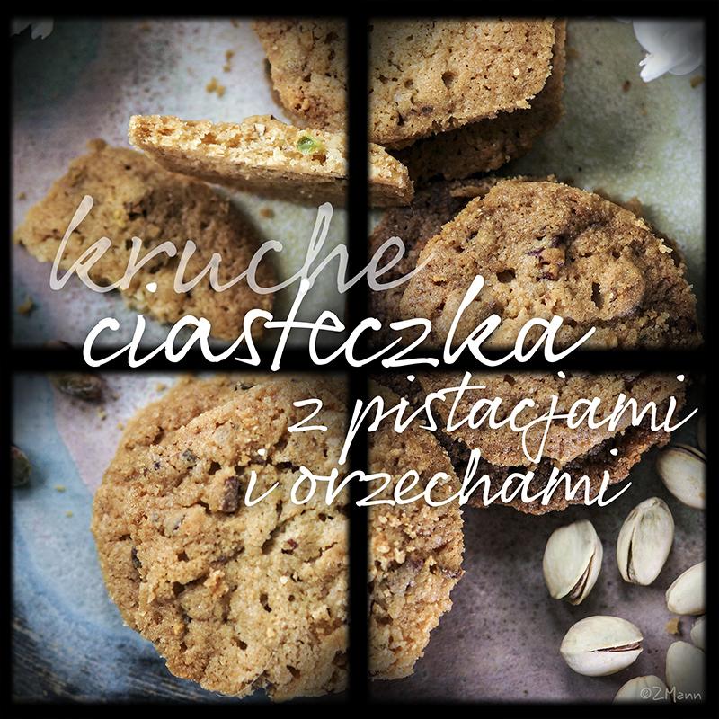 ciasteczka z pistacjami i orzechami włoskimi { ciasteczka Kai }