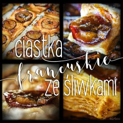 ciastka francuskie ze śliwkami . najprostsze