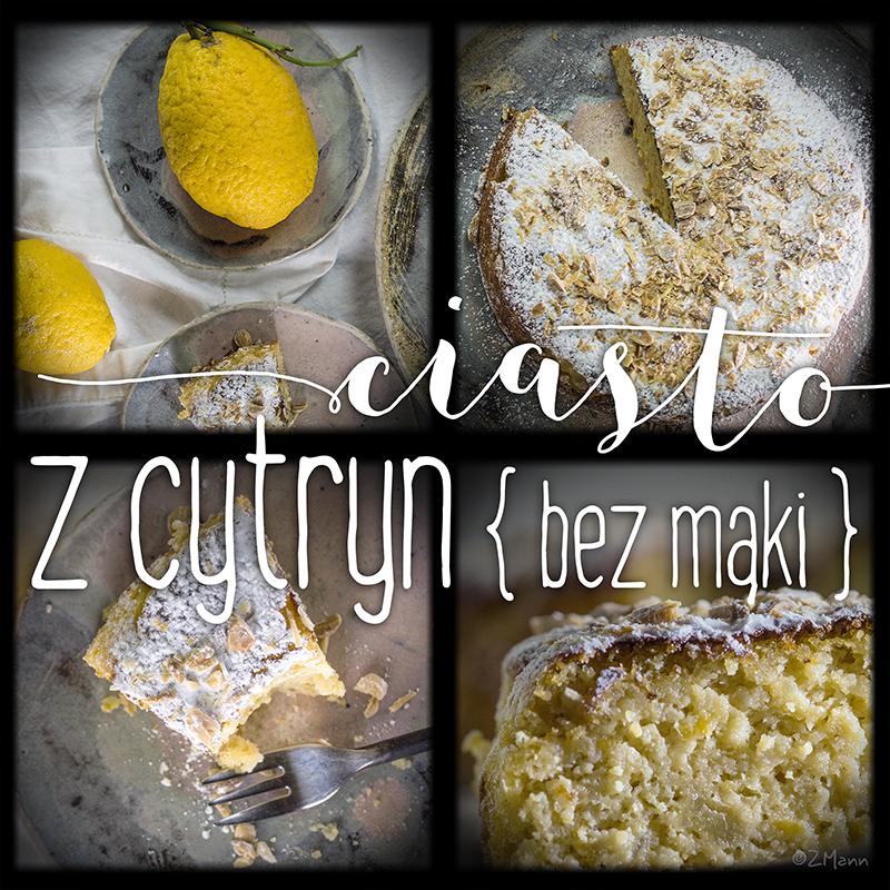 aromatyczne ciasto z cytryn • bez mąki •