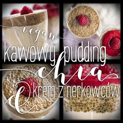 wegański deser . kawowy pudding chia & krem z nerkowców