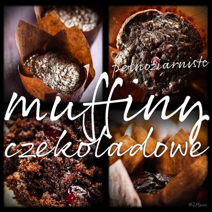pełnoziarniste muffiny czekoladowe