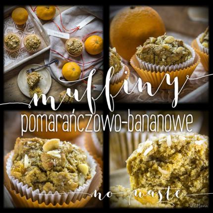 muffiny pomarańczowo-bananowe • no waste •
