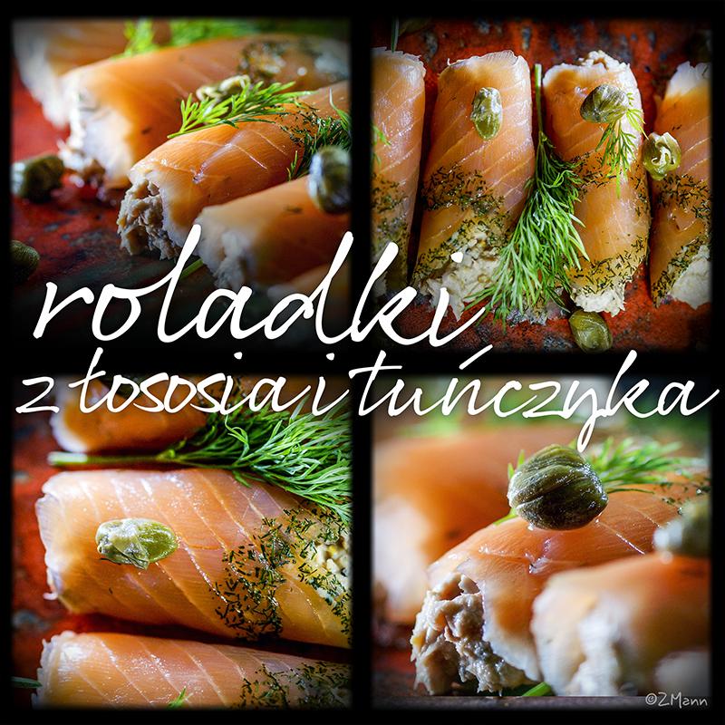 roladki z łososia i tuńczyka