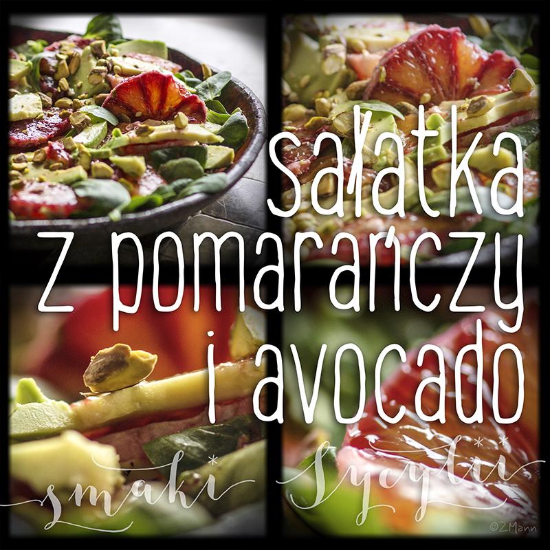 sałatka z pomarańczy i avocado z pistacjami . smaki Sycylii