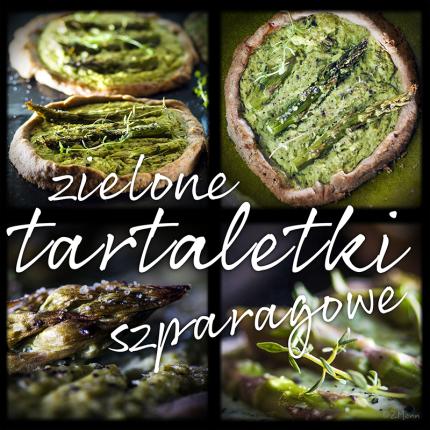 zielone tartaletki szparagowe z tymiankiem