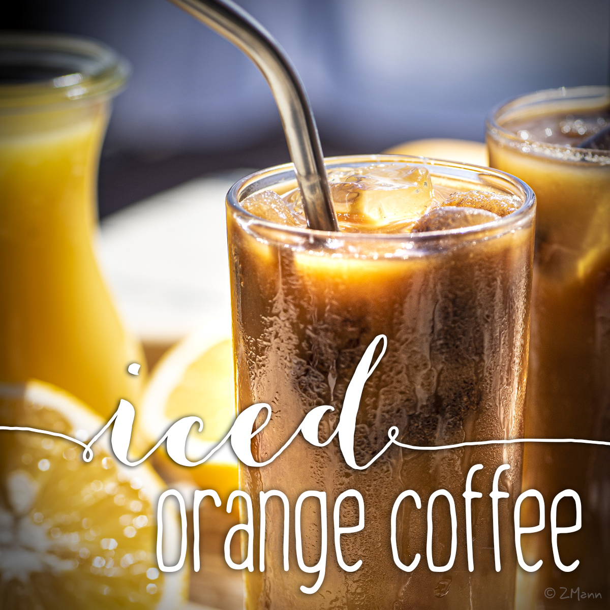 iced orange coffee